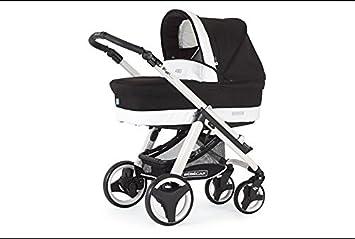 Cochecito nuevo completo (tres piezas) Bebecar Ip-Op Evolution (negro-blanco) + bolso + burbuja de lluvia +sistema de seguridad automóvil: Amazon.es: Bebé