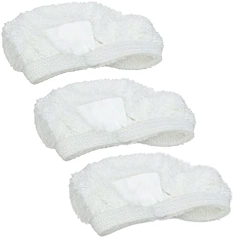 SPARES2GO Microfibre Cloth Cover Pads for Hoover AC27 Steam Cleaner Mop (Pack of 3)