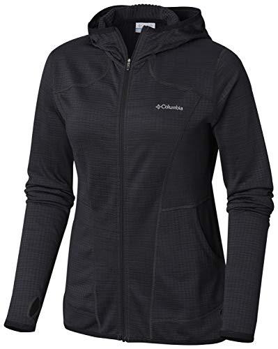 Columbia Women's Feather Brush Full Zip Fleece Jacket, Medium, Black Heather Columbia Full Zip Fleece