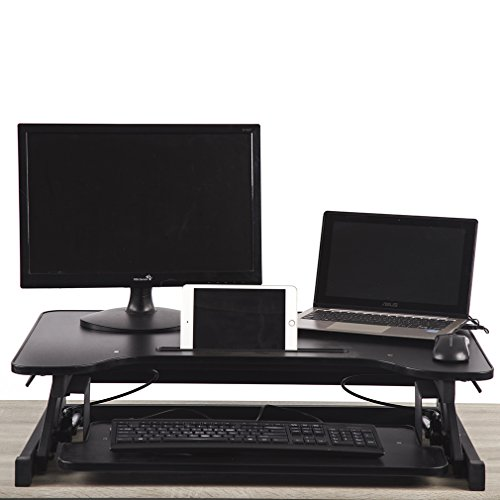 MR Direct 32'' Platform Height Adjustable Standing Desk Riser Removable Keyboard Tray by MR Direct
