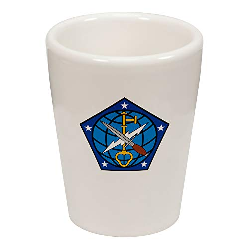 Express It Best Shot Glass -US Army 704th Military Intelligence Brigade, Shldr Sleeve