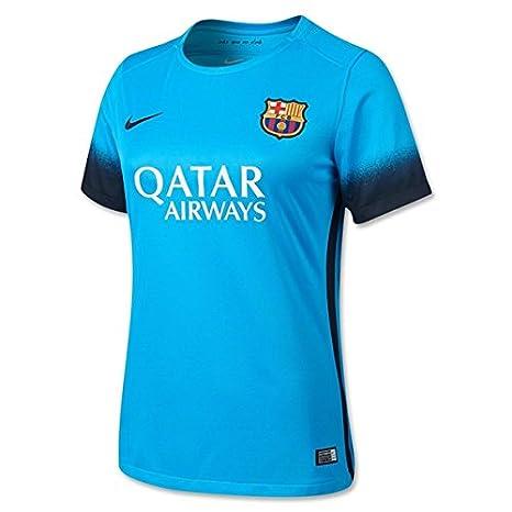 d57776e8d Nike – FC Barcelona 15 16 Terza Luce Corrente Blu Nero Jersey
