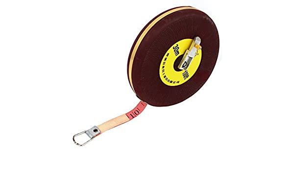 30M 100Ft Round Retractable Metric Ruler Range Measure Tape Burgundy: Amazon.com: Industrial & Scientific