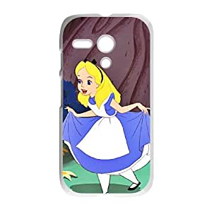 Motorola G Cell Phone Case Covers White Alice in Wonderland Character Alice as a gift E4512973