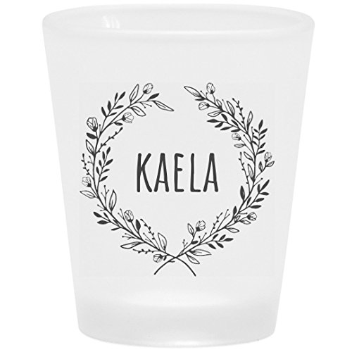 Kaela Floral Drinking Gift: Frosted Shot Glass -