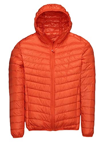 Mens Weight Fit Down Light Zip Fall AS14 Duck Coat Ultra up Solid Winter RkBaoye AadqAR