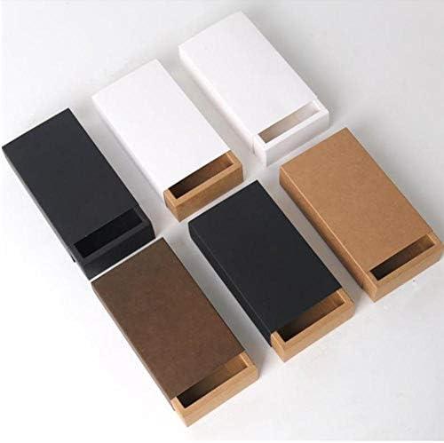 Kraftpapier Lade Type Ambachtelijke Geschenkdoos Wit Zwart Sieraden Handgemaakte Zeep Verpakkingsdozen Voor Bruiloft Snoep, kraft witte hoes, binnenmaat