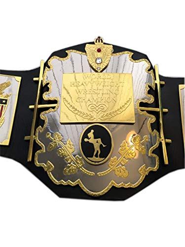 Haio Sports AWA World Heavyweight Wrestling Championship Replica Title Belt - Brass Metal 4mm Plates