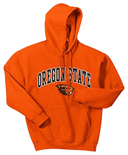 Elite Fan Shop NCAA Men's Oregon State Beavers Hoodie Sweatshirt Team Color Arch Oregon State Beavers Orange Large