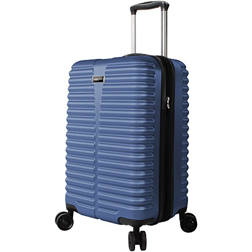 (Ciao Carry On 100% PC Lightweight Expandable Luggage With Spinner Wheels (20in, Blue))