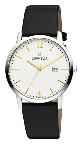 ORPHELIA Slimline Women's Black Leather watch-OR51701-1