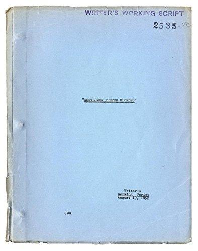 GENTLEMEN PREFER BLONDES (1953) Original writer's working script by Charles Lederer, Aug. 19, 1952