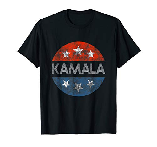 - KAMALA HARRIS 2020 T-SHIRT Red White And Blue Vintage Button