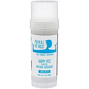 Primal Pit Paste All Natural Stick Deodorant - Aluminum Free, Paraben Free, Non-GMO, for Men and Women - BPA Free Convenience Stick - Scented with Essential Oils