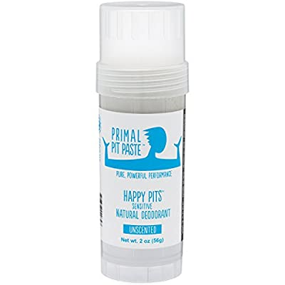 Primal Pit Paste All Natural Deodorant Stick, Aluminum Free, Paraben Free, No Added Fragrances