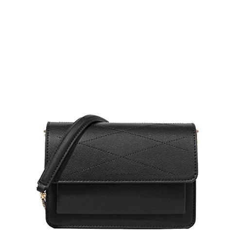 Marea Yy.f Paquete Pequeño Cuadrado Simple Salvaje Diagonal En Pequeñas Bolsas Bolsos Nuevos 2 Colores Black