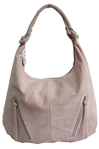 Suede Bag Shoulder Bag Rosé Handbag Bag Leather Bucket Tote Hobo WL822 Bag Women's Large qwpt6Unq