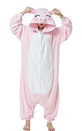 Halloween Xmas Anime Cosplay Onesie Pig One Piece Pajamas Homewear Costume