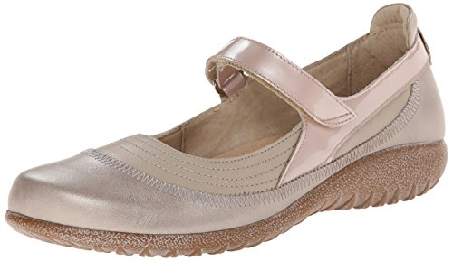 NAOT Footwear Women's Kirei Mary Jane Flat Linen Leather/Stardust Leather/Satin Beige Patent Leather big sale online 100% original sale online sale latest collections J857KBzqV