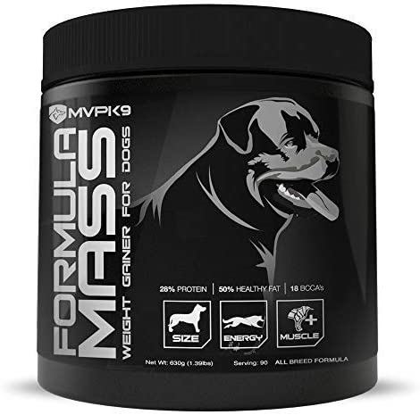 3. MVP K9 Supplements Formula Mass Weight Gainer for Dogs