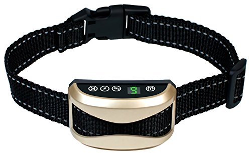 Bark Collar, Authenzo [2018 Upgrade Version] Barking Control Training Collar with Beep Vibration and No Harm Shock(7 Adjustable Sensitivity Control) For Small Medium Large Dog