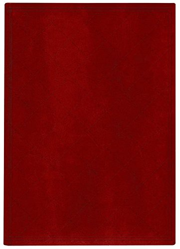 Pierre Belvedere Quilt Stitch Collection Large Hardcover Notebook with Padded Embossed Cover, Red (7706340)