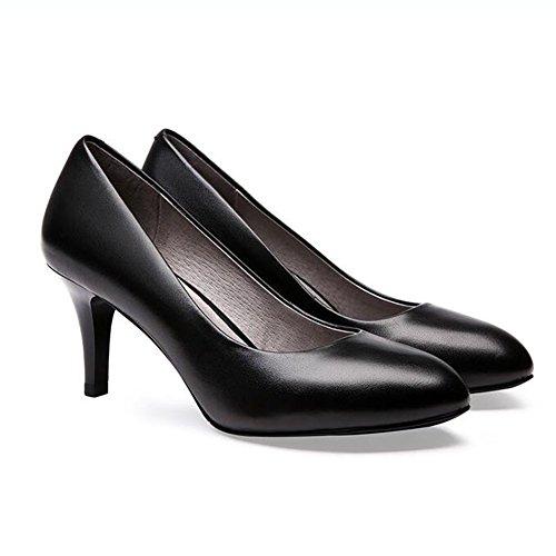 nbsp; 7 Heels CN37 Pumps Absatz UK4 Pumpe Formal Arbeit EU37 Büro größe Schwarz Frauen Farbe 7cm Damen 5 5 5 Cm Court YIXINY High Schuhe nvqxS4FwFZ