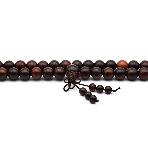 Zen Dear Unisex Natural Rosewood Prayer Beads Buddha Buddhist Prayer Meditation Mala Necklace Bracelet (10mm 108 Beads) by Zen Dear (Image #4)
