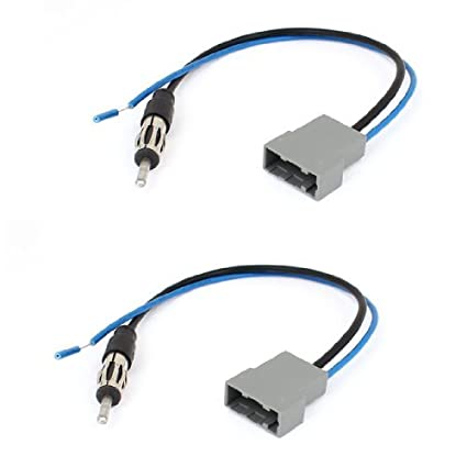 2pcs Radio DealMux Car Adapter Antena cabo de extensão