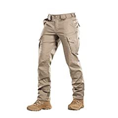 M-Tac Aggressor Flex Tactical PantsUse them for training, shooting, work, and for a business trip or walk.PLEASE, KINDLY REVIEW SIZE CHARTMade of elastic fabric - 64% cotton, 32% polyester and 4% spandex.Aggressor pants keeps ultimate freedom...