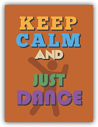 Keep Calm And Just Dance Alta Calidad De Coche De Parachoques Etiqueta Engomada 10 x 12 cm: Amazon.es: Hogar