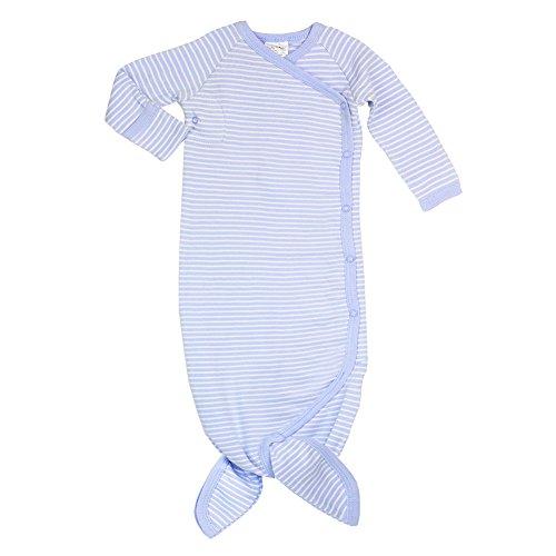 Cashew Kidswear Organic Cotton MerGown Baby Sleepgown Infant Kimono (0-3 Months, Blue)