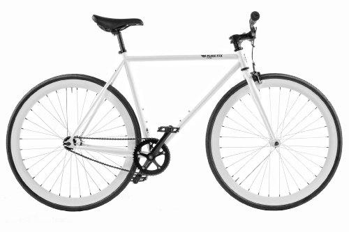 Pure Fix Cycles Glow in the Dark Zulu Fixed Gear Bike, 54cm/Medium, Glow White