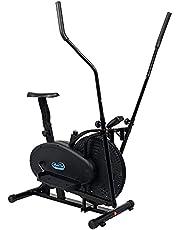دراجة رياضية اوربتراك بيضاوية الشكل 2 في 1 من سكاي لاند بيسك - اسود طراز EM-1501