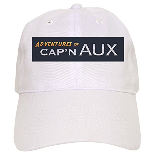 CafePress Adventures of Capn Aux Baseball Cap Baseball Cap with Adjustable Closure, Unique Printed Baseball Hat White