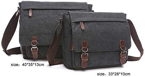 Bxfdc Mens Bag Shoulder Bag Leather Business Cross Section Mens Handbag Messenger Bag Computer Briefcase Color : Black