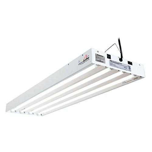 Hydrofarm Agrobrite FLT44 T5 Fluorescent Grow Light System, 4 Feet, 4 Tube