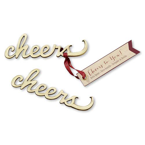 100 Cheers Antique Gold Bottle Openers