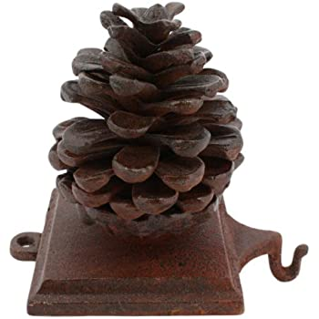 Iron pine cone stocking hanger home kitchen for Decor star 005 ss
