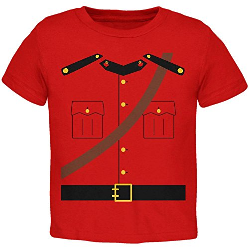 Halloween Canadian Mountie Police Costume Toddler T