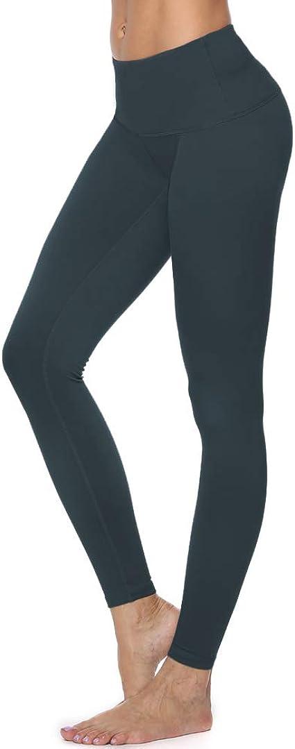 Vickyleb Workout Running 4 Way Stretch Athletic Non See-Through Yoga Shorts High Waist Tummy Control Yoga Leggings