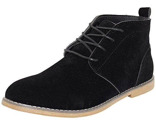Leather Generic Homme Chaussons Montants Black Sythetic Suede OqHAUSw