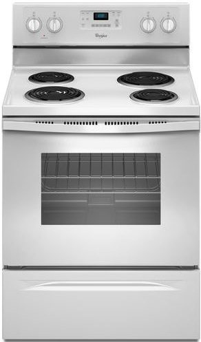 WHIRLPOOL GIDDS-109018 30'' 4.8 cu. ft. Single Oven Free-Standing Electric Range, White by Whirlpool