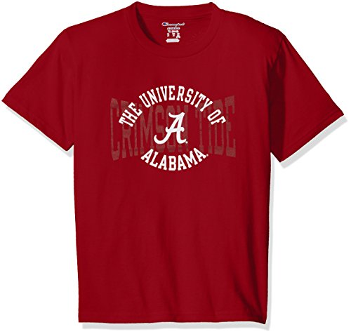 Crimson Youth Fan Gear - NCAA Alabama Crimson Tide Youth Boys Jersey T-Shirt 1, Medium, Cardinal