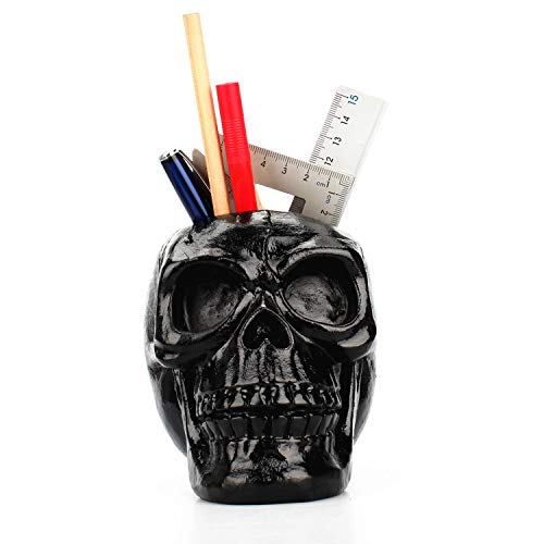 TBW Skeleton Tattoo Floral Pen Holder Makeup Organizer