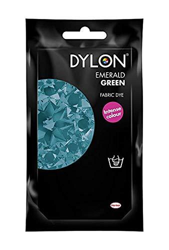 Dylon - Tinte permanente para tela, color verde esmeralda, 3 ...