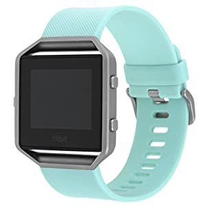 For Fitbit Blaze Bands Large Small, Henoda Silicone Wristband for Fitbit Blaze Smart Watch Women Men with Metal Frame