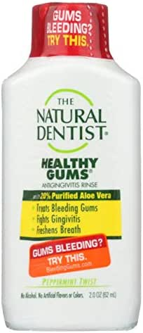 Natural Dentist Anti Gingivitis Rinse - Healthy Gums - Peppermint Twist - 2 oz by Natural Dentist