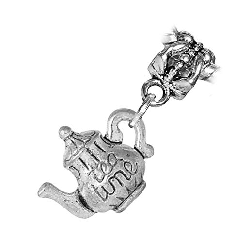 Wine Cheese Ice Bucket Chocolate Party Bead fits Silver European Charm Bracelets Jewelry Making Supply by Wholesale -