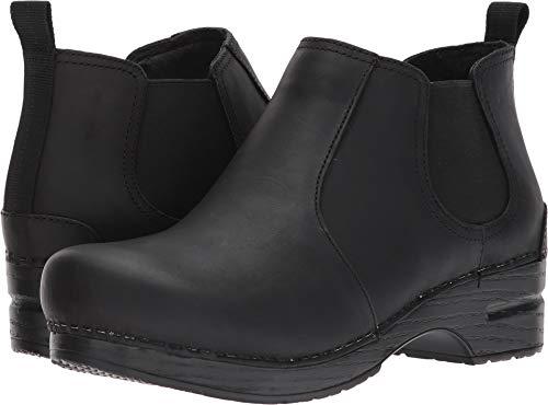 Dansko Women's Frankie Ankle Bootie, Black Oiled, 38 EU/7.5-8 M US (Dancos Shoes)